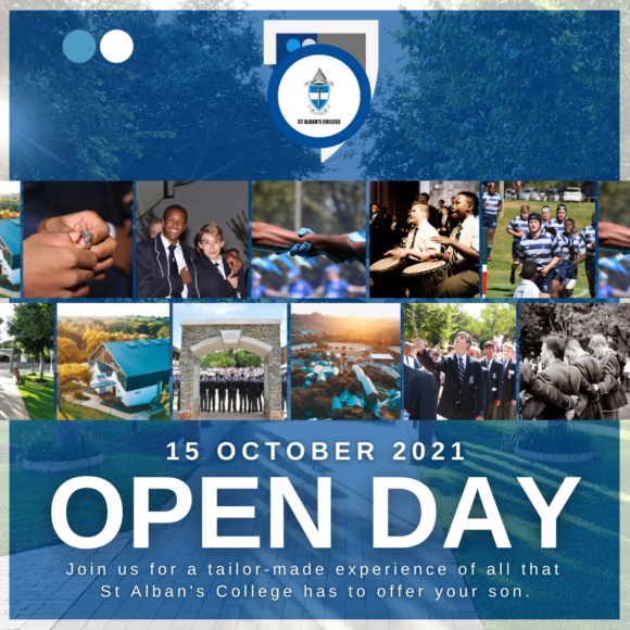 OPEN DAY: 15 OCTOBER 2021